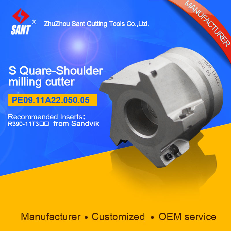 Square shoulder milling cutter Indexable milling cutter insert R390-11T3 from Sandvik disc PE09.11A22.050.05