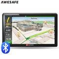 7 polegada de navegação GPS Do Carro avin Do Bluetooth 256 MB 800 Mhz 8 GB Completa Europa/EUA/Rússia navitel Caminhão veículo gps navigator Sat Nav