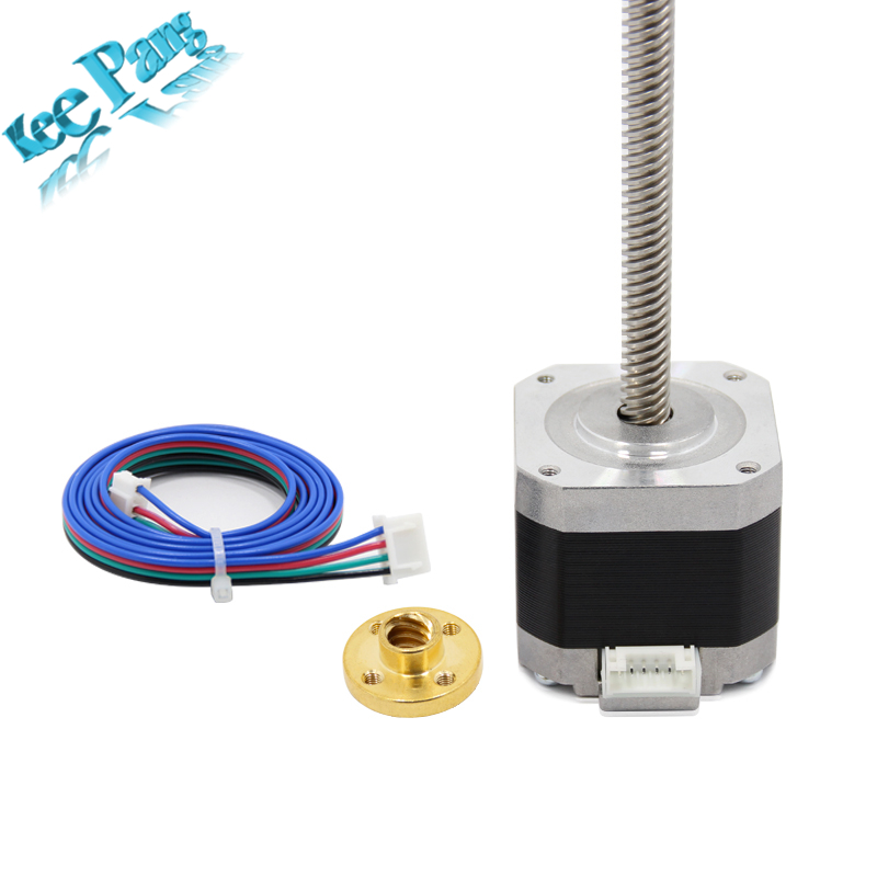 Nema 17 Stepper Motor 1 5A with 4pin Cable T8 Lead Screw 300mm Trapezoidal Nuts Part