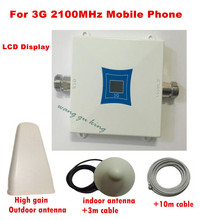 HOT!Full set 3G UMTS 2100MHZ WCDMA LCD Repeater Cell Cellphone Cell Sign Repeater / Amplifier / booster +Yagi Antenna +10m Cable