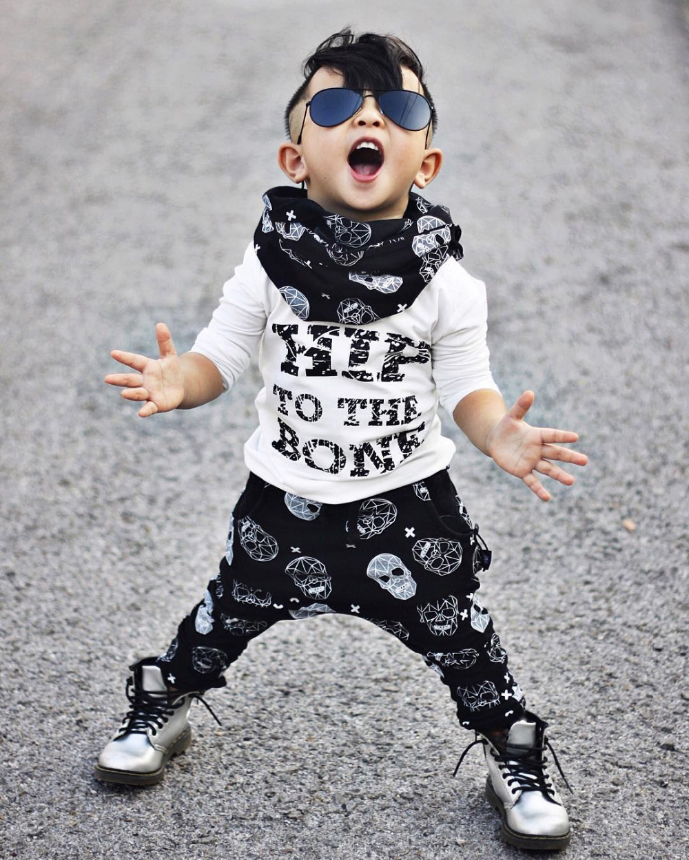 2 pcs. Toddlers Children Boy T-Shirts Tops + Pants Summer Hip to Bones Casual Costumes Clothes Set New SY136 easy guide to sewing tops and t shirts skirts and pants