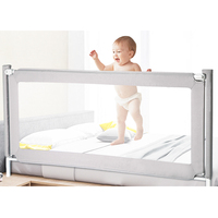 Crib guardrail baby shatter resistant fence bed 1.8 2 meters children's anti fall bedside baffle cotton bed