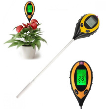 4 in 1 Digital PH Meter Soil Moisture Monitor Temperature Sunlight Tester for Gardening Plant Agriculture With LCD Displayer Hot