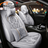 Custom Jacquard Fabric Covers Seat Car For Benz Smart Fortwo Forfour Car Seat Cover For Cars