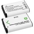 2 unids/lote 3.7 v 1600 mah paquete de baterías para sony dsc-rx100 rx100 hdr-as15 cámara np-bx1 bx1