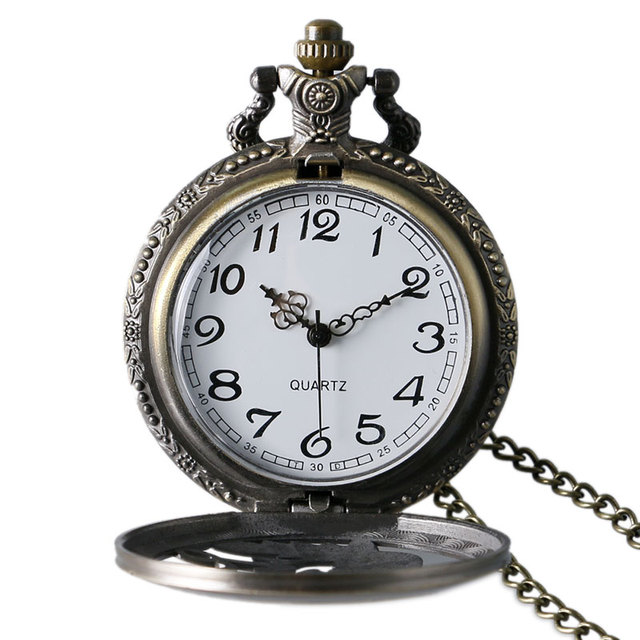 4.7cm Steampunk retro mechanical pocket watch Antique Dragon stereo carve patterns mechanical pocket watch