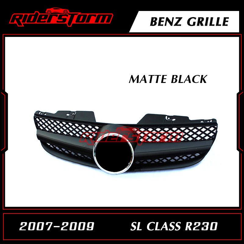 Replacement Accessories Auto Front Center Mesh Grille Tunning Part Fit for Mercedes Benz SL Class R230 2007-2009 Perfect Fitment