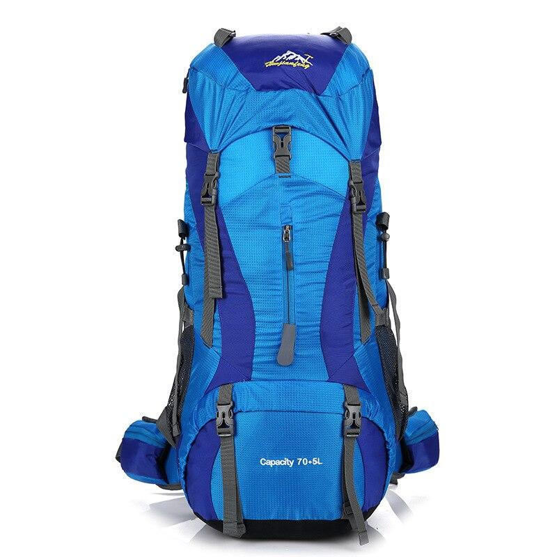 Sac d'alpinisme professionnel en plein air sac à dos de randonnée de grande capacité sac à dos en Nylon sacs de voyage en plein air sacs à dos avec couverture de pluie