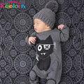 Детская одежда 2017 ребенка комбинезон весна младенческой одежда детская одежда устанавливает мальчик Хлопок маленькие монстры с длинным рукавом baby boy одежда