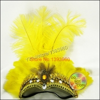 Зажимы для выступления элегантный головной убор перо головной убор День Святого Валентина Festa карнавал masquerad бар танец живота волос
