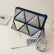 2016 New summer fashion patchwork women messenger bags rivet designer women bags handbags small lady crossbody bag free shipping