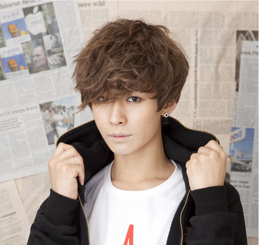 Handsome Boys Wig Korean Fashion Short Men Hair Cosplay