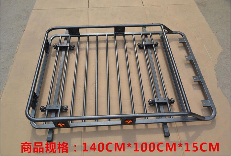 Car Aluminum Top Roof Rack Rail Bar baggage luggage bar Box For Universal All SUV CAR (140*100*15CM)