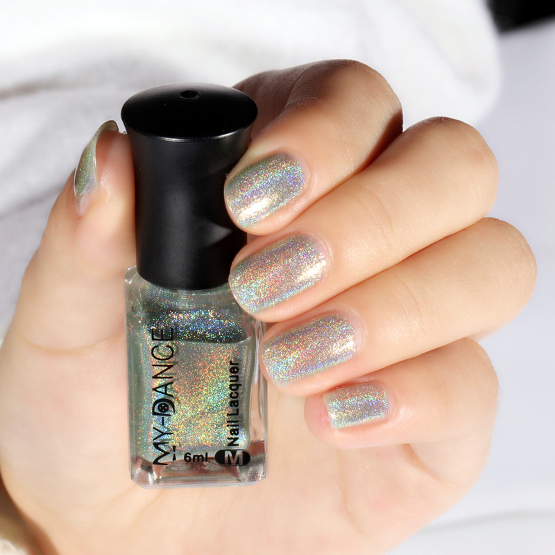 Online Shop New Fashion Holographic Holo Glitter Laser Nail Polish
