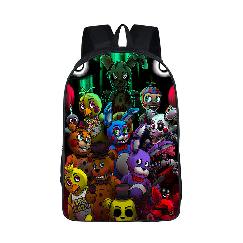 Five Nights at Freddy Backpack Women Men FNAF School Bags Teenager Kids Bagpack Five Nights at Freddys Bag Children Book Bags