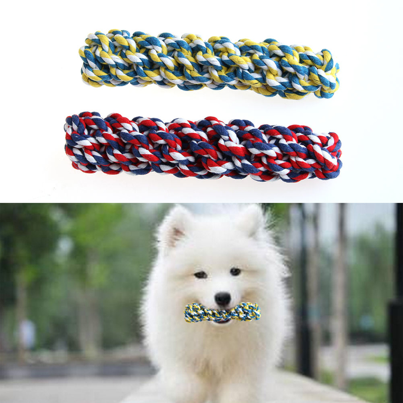 New 20Cm Rope Dog Tug Toys Pets Puppy Chew Braided For Pets Dogs Training Bait Toys On Sale