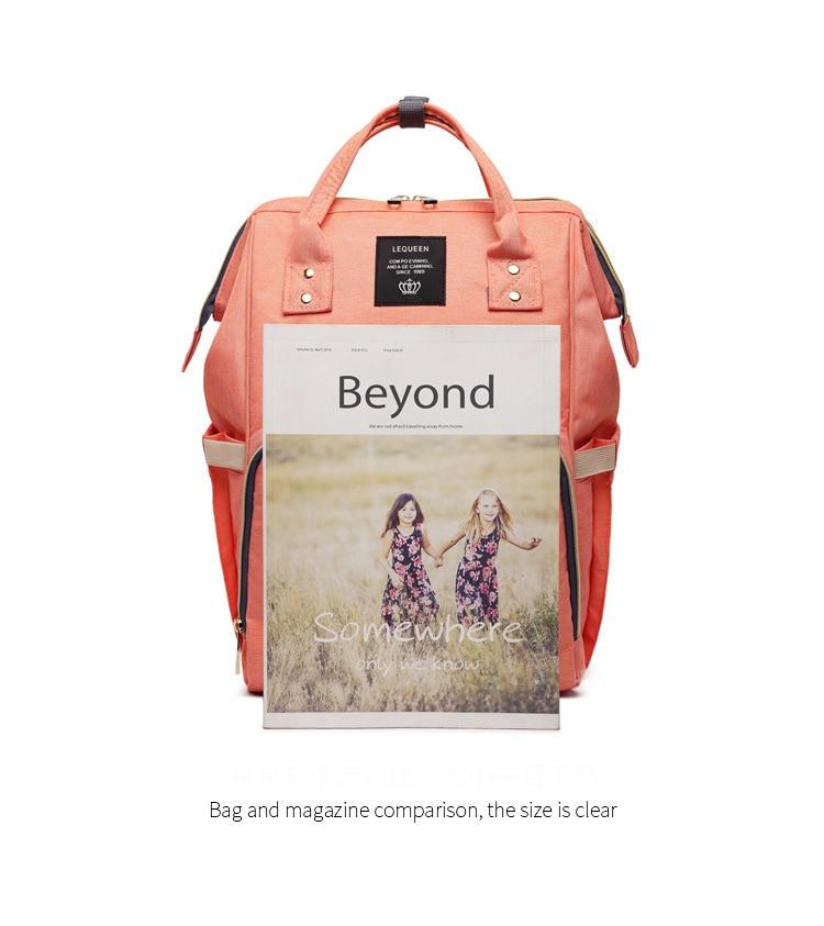 HTB1M4s4k4TI8KJjSspiq6zM4FXaC Maternity Bag Waterproof Diaper Backpack for Mom Nappy Bags Large Capacity Baby Bag Travel Mummy bag Designer Nursing Bag