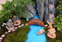 1Pc 9 Style Mini Small Cottages House Fairy Garden Miniatures DIY Ornament Decoration Crafts Figurines Micro Landscape