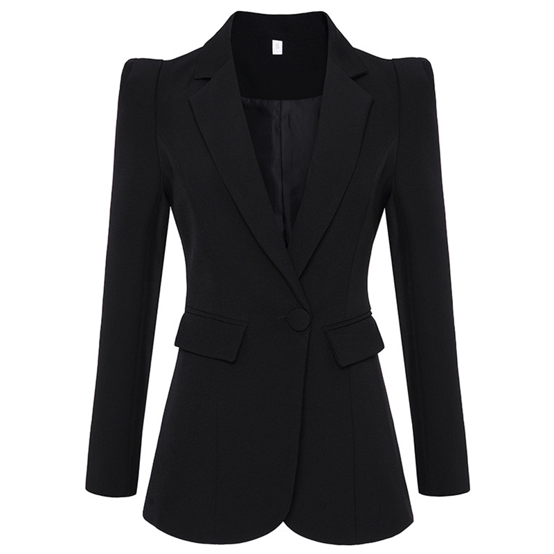 HAGEOFLY Autumn New Black White Blazer Women Wrok Office Formal Single Buttons Women Blazers OL Outwear