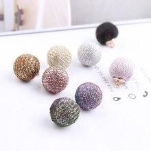 Shining beads pendant Maomao ball diy Korean jewelry materials line bracelet necklace earrings ears manual accessories