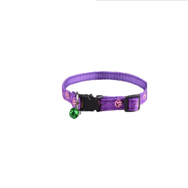 Polyester Pet Cats Dogs Deworming Collar Repel Flea Neck Ring With Bell  Cute Pet Mosquito Repellent Collar Dog Supplies-in Cat Collars & Leads from