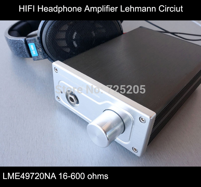 Headphone Amplifier HIFI with Lehmann LME49720NA High-grade Aluminum Chassis 16-600 ohms