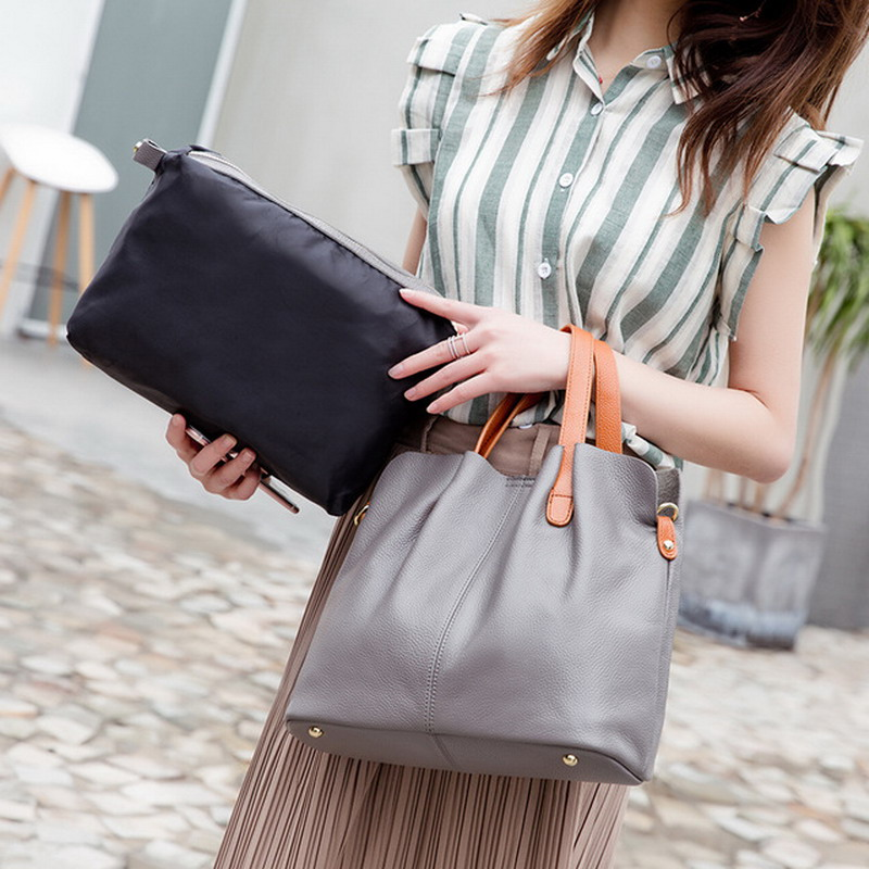 Fashion Cow Leather Ladies Handbag Women Genuine Leather shoulder Totes Messenger Bags High Quality composite bag Luxury BagFashion Cow Leather Ladies Handbag Women Genuine Leather shoulder Totes Messenger Bags High Quality composite bag Luxury Bag