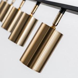 Image 4 - אירופה נורדי קטן נחושת פליז תליון אור מנורת LED זהב מודרני תליון מנורת אור שינה אוכל בר LED תליון אור
