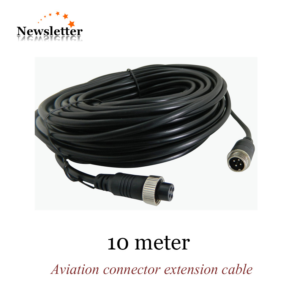 3M 4Pin Cable Aviation Connector Video Extend Cable For CCTV Security Camera DVR