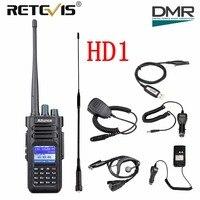 Retevis Ailunce HD1 Dual Band DMR Digital Walkie Talkie GPS 10W IP67 Waterproof VHF UHF Ham