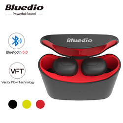 Bluedio T-elf mini Air pod Bluetooth 5.0 Sports Headset Wireless Earphone built-in microphone with charging box