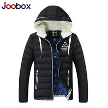 JOOBOX Brand 2017 Winter Jacket Men Hooded Down Parkas Jacket Men Fashion Mens Parkas Thicken Warm jaqueta masculina inverno