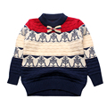 Pattern Boy Sweater Crochet Warm Cotton Top Boy Outerwear Pullover Kids Sweater Infant Clothes Toddler Outfit Boys Knitwear 2016