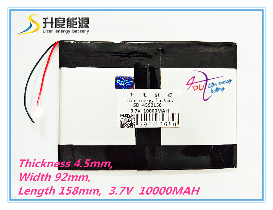 Tablet pc 3.7V,10000mAH (polymer lithium ion battery) Li-ion battery for tablet pc 9.7 inch 10.1 inch [4592158] Free Shipping