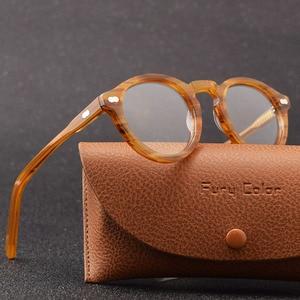 Image 1 - Retro Ronde Kleine Acetaat Frame Optische Brillen Frame Clear Lens Bril Frame Vrouwen Mannen Bijziendheid Spectacles Prescription Frame