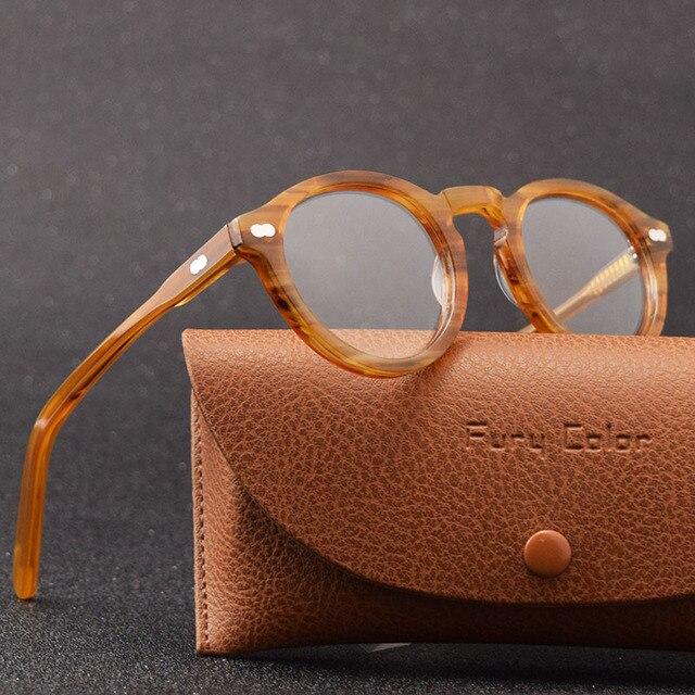 Retro Round Small Acetate frame optical eyeglasses frame clear lens glasses frame women men myopia spectacles prescription frame