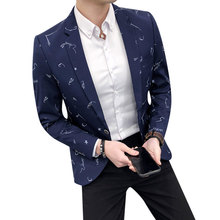 Mens casual blazer new fashion Slim fit suit jacket M 3XL single button Spring coat autumn