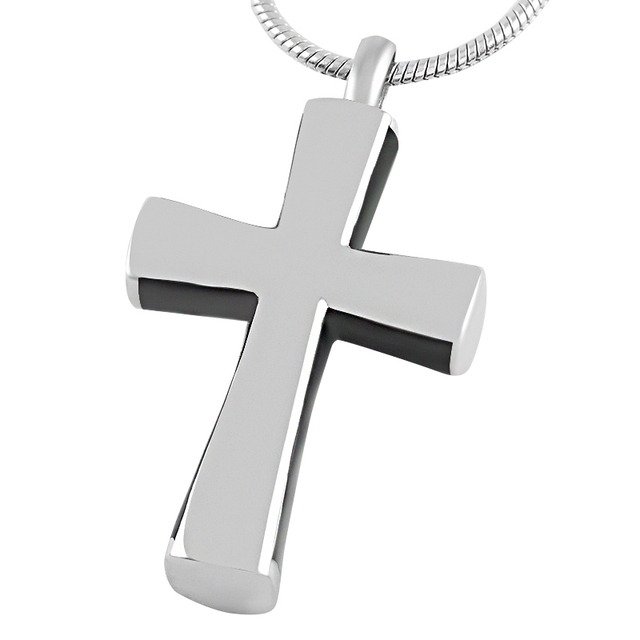 Black Cross Shaped Memorial Pendant