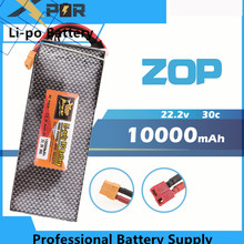 22.2V 6s ZOP Lipo battery 10000mAh 30C max 35C Xpower XT60 T plug for rc drone Helicopter