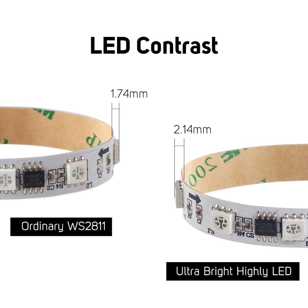 WS2811 5050 SMD RGB Strip Adresserbar 30/48/60/96 / 144leds / m - LED-belysning - Foto 4