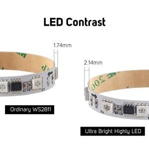 Image 5 - WS2811 rgb ledストリップライト5050 smdアドレス可能30 48 60 96 144 led外部1 ic制御3 leds高輝度通常のledライトDC12V