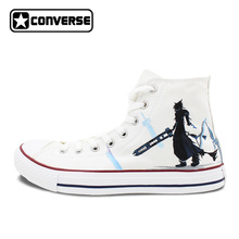White Converse Chuck Taylor Men Women s Shoes Custom Final Fantasy Design Hand Painted High Top