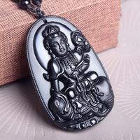 Alris Chicken Years Zodiac Snake And Patron Saint Of Samantabhadra Diy Real Stone Obsidian Jewelry Pendant