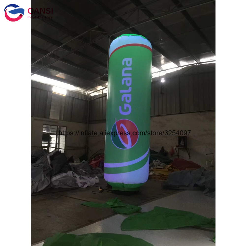 3m inflatable standing event lighting column tube inflatable led pillar for advertising decoration3m inflatable standing event lighting column tube inflatable led pillar for advertising decoration