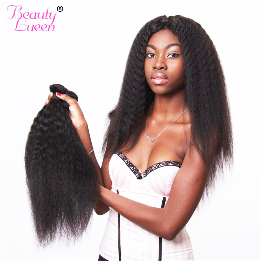 Straight hair perm products - Peruvian Kinky Straight Hair 100 Human Hair Weave Peruvian Hair Bundles Natural Color Non Remy Hairextensions Beauty Lueen