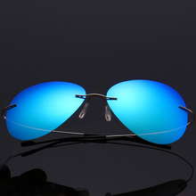 Ultra Lightweight Polarized Sunglasses 100% UV Protection Rimless Retro Vintage Style Mirror Lens Pilot