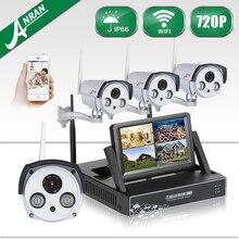 ANRAN Беспроводной 7 «ЖК-Экран Wi-Fi NVR Комплект 720 P HD AUTO-PAIR Открытый Водонепроницаемый Камеры Безопасности Системы 1 ТБ HDD Включен