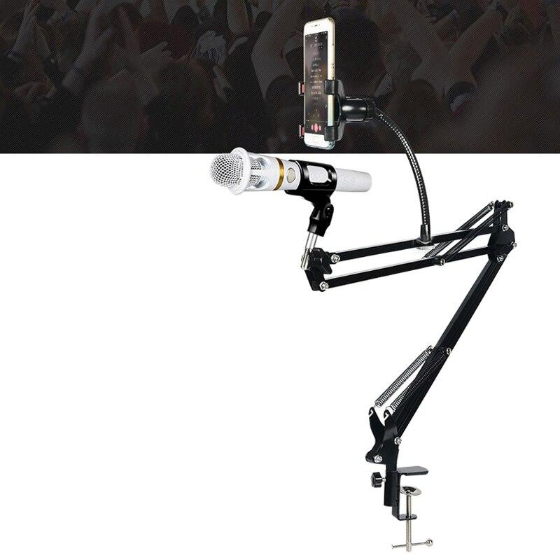 Heimelektronik Zubehör Neue Ituf Einstellbare Aufnahme Mikrofon Suspension Boom Scissor Arm Stehen Mit Telefon Halter Schwarz Verpackung Der Nominierten Marke