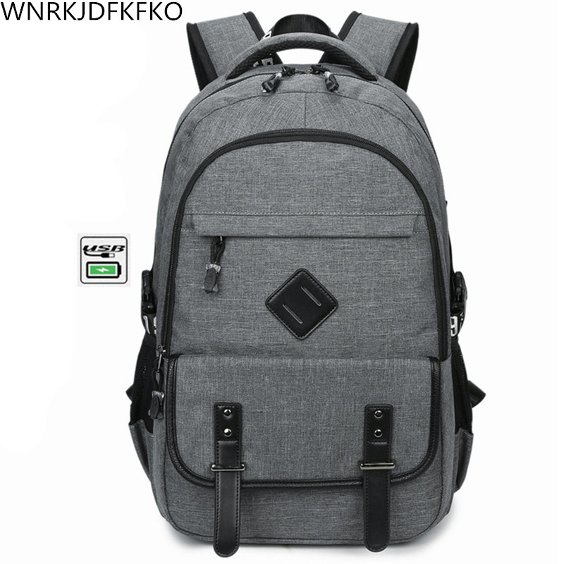все цены на 2017 The New Backpack Brand 17 inch Laptop Backpack USB Charge Computer Bag Backpack For Men & Women Business Casual School Bag