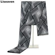 Liseaven зимние теплые мужские шарфы деловые повседневные шали новые длинные шарфы